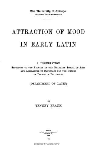Attraction of mood in early Latin.