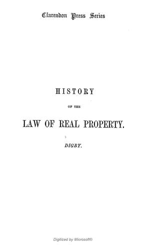 Download An introduction to the history of the law of real property, with original authorities.