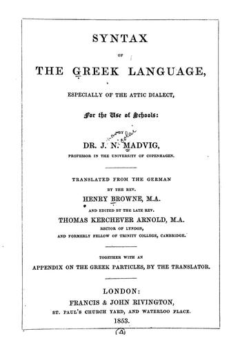Download Syntax of the Greek language