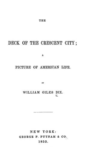 The deck of the Crescent City
