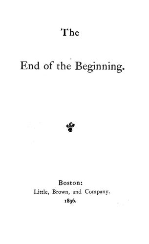 The end of the beginning.