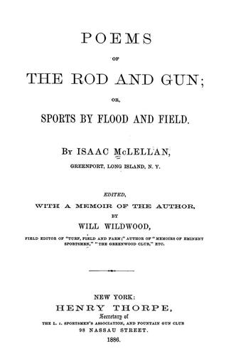 Poems of the rod and gun
