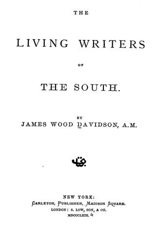 Download The living writers of the South.