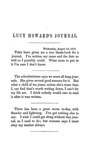 Download Lucy Howard's journal.