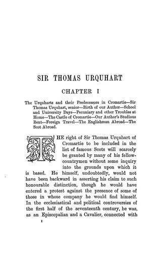 Download Sir Thomas Urquhart of Cromartie, knight.