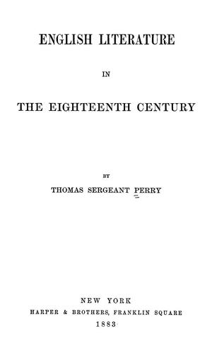 English literature in the eighteenth century