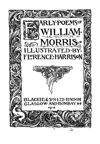 Early poems of William Morris by William Morris