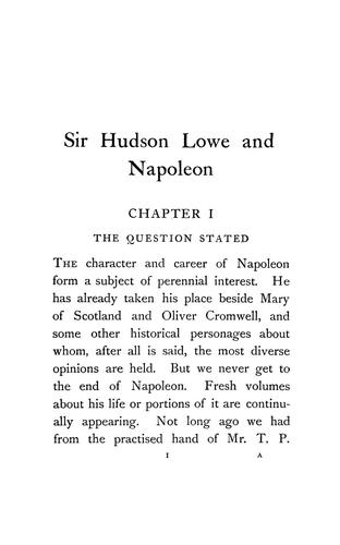 Download Sir Hudson Lowe and Napoleon