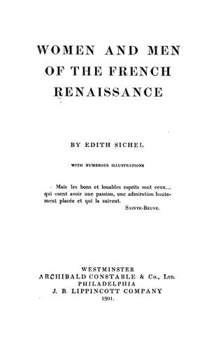Download Women and men of the French Renaissance
