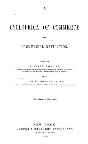 Download A cyclopedia of commerce and commercial navigation.