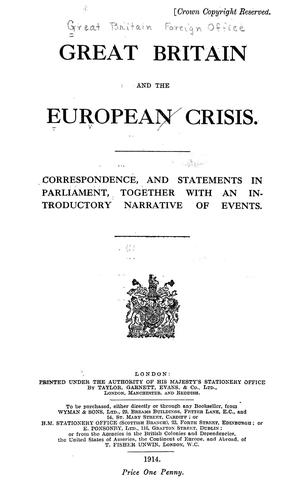 Great Britain and the European crisis.