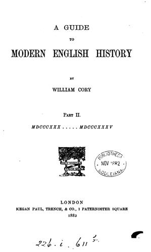 A guide to modern English history