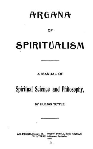 Download Arcana of spiritualism