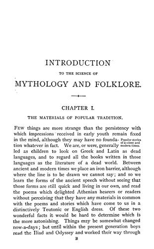 Download An introduction to the science of comparative mythology and folklore