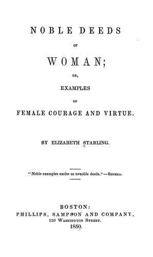 Noble deeds of woman