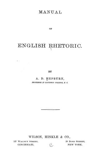 Download Manual of English rhetoric.