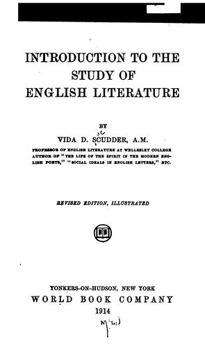Download Introduction to the study of English literature