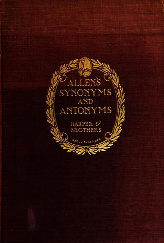 Download Allen's synonyms and antonyms.