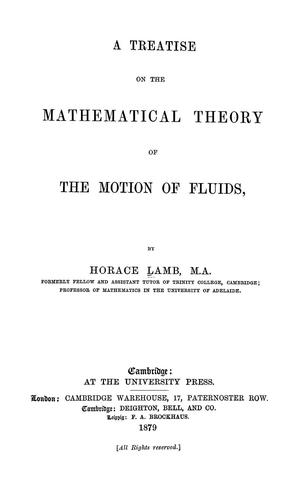 Download A treatise on the mathematical theory of the motion of fluids