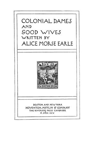 Download Colonial dames and good wives