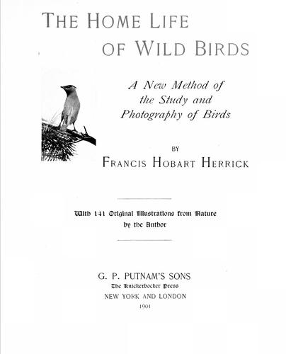 The home life of wild birds
