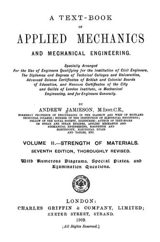 Download A text-book of applied mechanics and mechanical engineering …