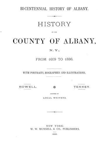 Bi-centennial history of Albany.