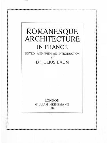 Download Romanesque architecture in France