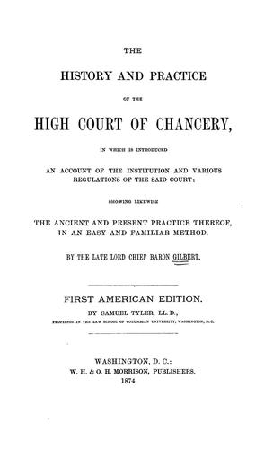 Download The history and practice of the High court of chancery