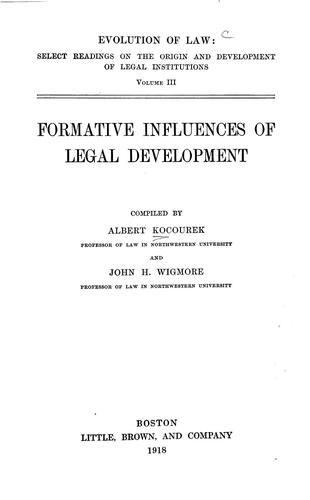 Download Formative influences of legal development