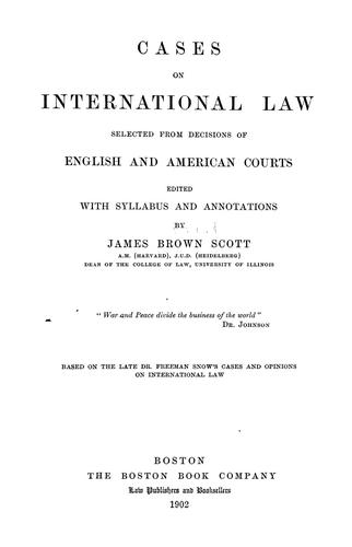 Download Cases on international law