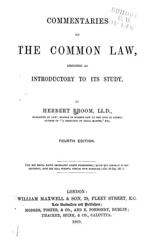 Download Commentaries on the common law