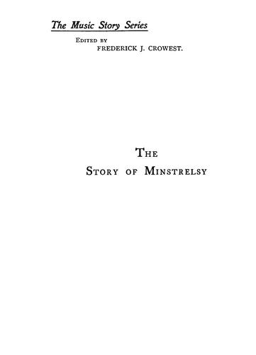 Download The story of minstrelsy
