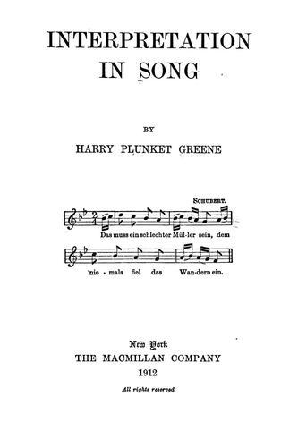 Interpretation in song
