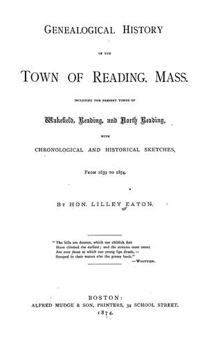 Download Genealogical history of the town of Reading, Mass.