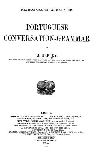 Download Portuguese conversation-grammar