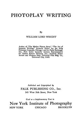 Download Photoplay writing