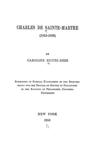Download Charles de Sainte-Marthe (1512-1555)