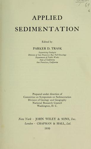 Applied sedimentation by Parker D. Trask