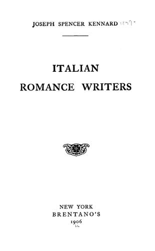 Image for Italian Romance Writers