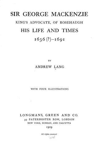 Download Sir George Mackenzie