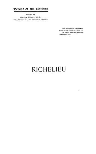 Download Richelieu and the growth of French power