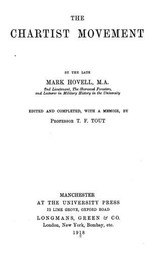 The Chartist movement