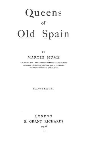 Queens of old Spain