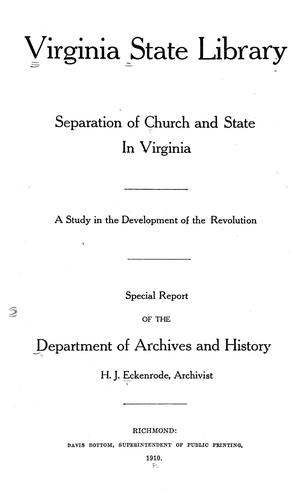 Separation of church and state in Virginia