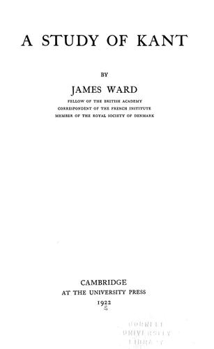 Download A study of Kant