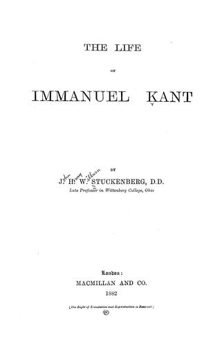 Download The life of Immanuel Kant