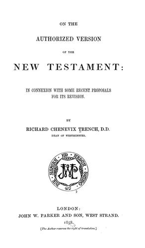 Download On the Authorized version of the New Testament