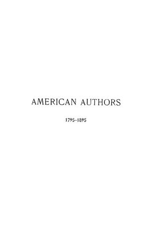 Download American authors, 1795-1895.