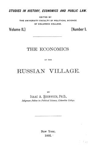 Download The economics of the Russian village